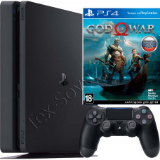 Sony PlayStation 4 Slim 1Tb с игрой God of War 2018