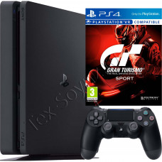 Sony PlayStation 4 Slim 500 Gb и игра Gran Turismo Sport