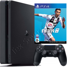 Sony PlayStation 4 Slim 500 Gb и игра FIFA 19
