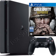 Sony PlayStation 4 Slim 1 TB и игра Call of Duty: WWII