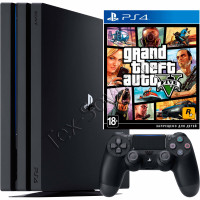 Sony PlayStation 4 PRO 1 TB и игра GTA 5