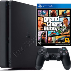 Sony PlayStation 4 Slim 500 Gb и игра GTA 5