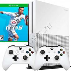 Miсrosoft Xbox One S 1TB, 2-й джойстик и игра FIFA 19