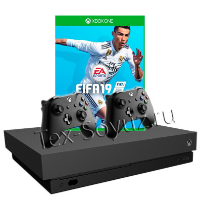 Miсrosoft Xbox One X 1TB, 2-й джойстик и FIFA 19