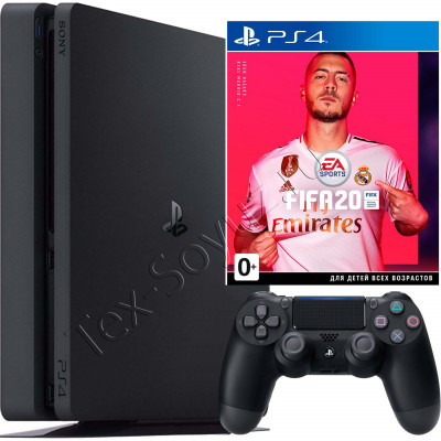 Sony PlayStation 4 Slim 500 Gb и игра FIFA 20