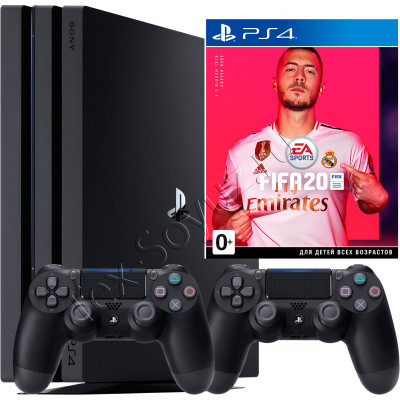 Sony PlayStation 4 PRO 1 TB, 2-й джойстик и игра FIFA 20