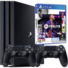 Sony PlayStation 4 PRO 1 TB, 2-й джойстик и игра FIFA 21