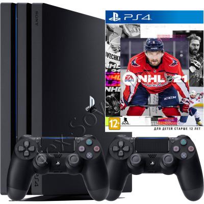 Sony PlayStation 4 PRO, 2-й джойстик и игра NHL 21