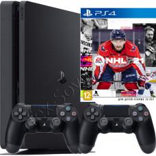 Sony PlayStation 4 Slim 500 Gb, 2-й джойстик и игра NHL 21
