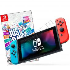 Nintendo Switch Bundle неоновая и Just Dance 2019