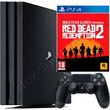 Sony PlayStation 4 PRO 1 TB и игра Red Dead Redemption 2