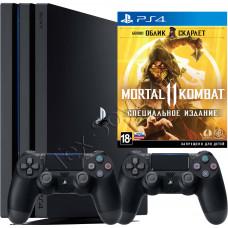 Sony PlayStation 4 PRO 1 TB, 2-й джойстик и игра Mortal Kombat 11