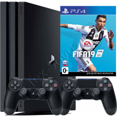 Sony PlayStation 4 PRO 1 TB, 2-й джойстик и игра FIFA 19