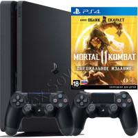 Sony PlayStation 4 Slim 1 TB, 2-й джойстик и игра Mortal Kombat 11