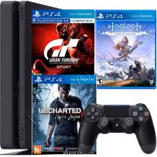 Sony PlayStation 4 Slim 500 Gb и 3 игровых хита