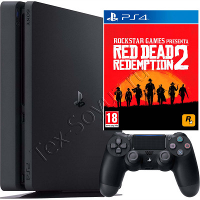 Sony PlayStation 4 Slim 500 Gb и игра Red Dead Redemption 2