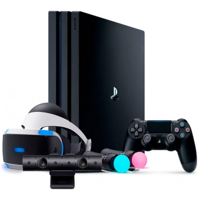 Sony PlayStation 4 PRO 1 TB и шлем VR ver.2 Mega набор