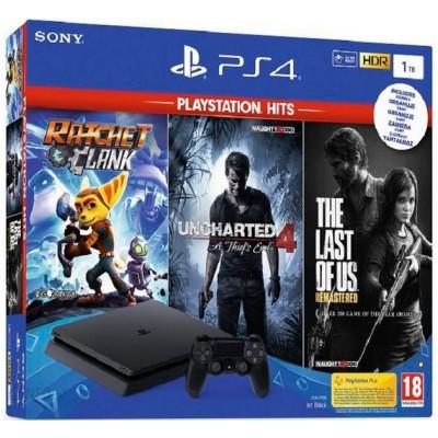 Sony PlayStation 4 Slim 1Tb и 3 игровых хита