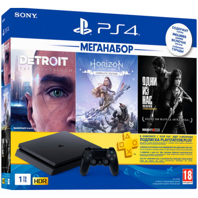 Sony PlayStation 4 Slim 1Tb Меганабор