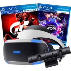 Sony PlayStation VR v2 + VR Worlds + Gran Turismo Sport+ PlayStation 4 Camera v2