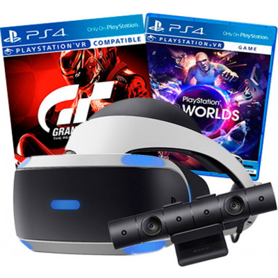 Sony PlayStation VR v2 + VR Worlds + Gran Turismo Sport+ PlayStation 4 Camera v2