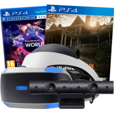 Sony PlayStation VR v2 + VR Worlds + Resident Evil+ PlayStation 4 Camera v2