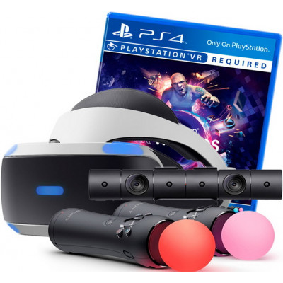 Sony PlayStation VR v2 + VR Worlds + PlayStation 4 Camera v2 + 2 контроллера Move